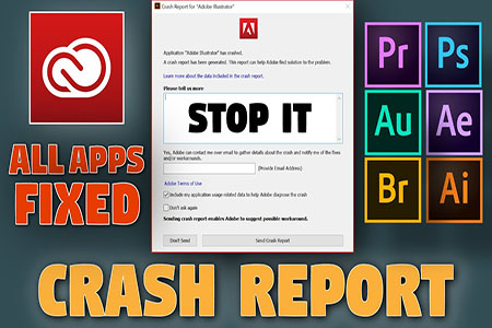 Adobe Apps Crash